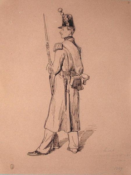 Labat, grenadier au 2e bataillon du 68e, 1er assaut, 1849 ; Siège de Rome de 1849 (en 3 tomes)_0