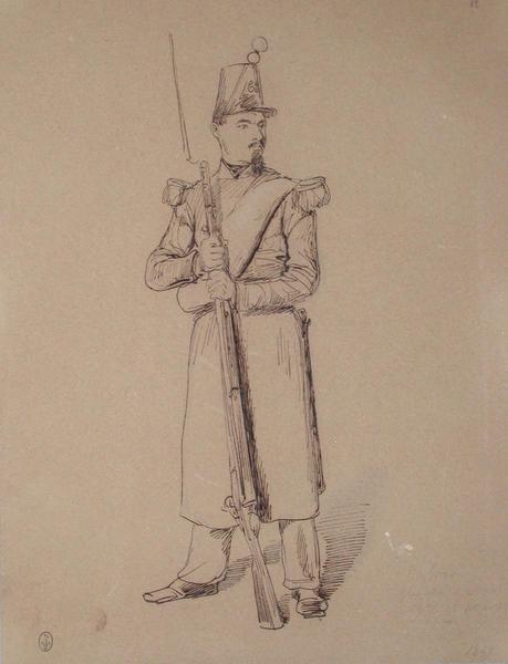 Calmon, grenadier du 2e bataillon du 68e, 1er assaut, 1849 ; Siège de Rome de 1849 (en 3 tomes)_0