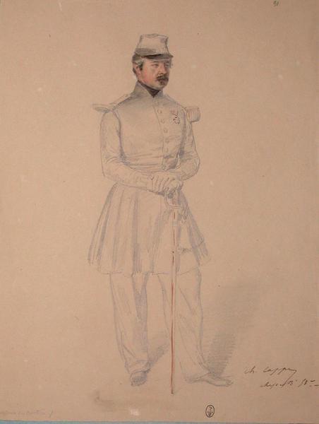 Cappe, chef de bataillon 53e assaut du bastion 7 ; Siège de Rome de 1849 (en 3 tomes)_0