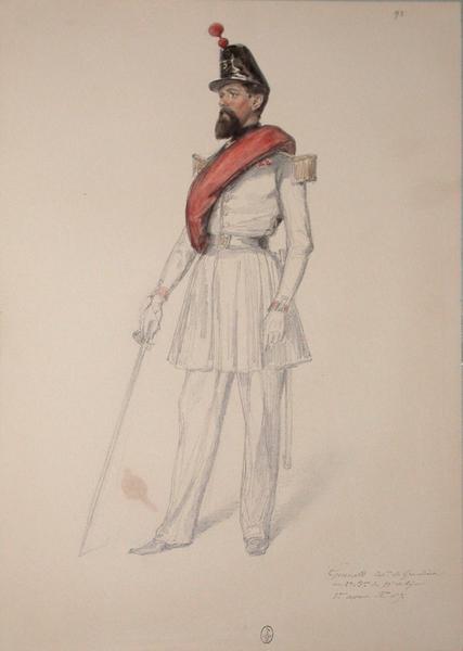 Guerard, capitaine des grenadiers ; Siège de Rome de 1849 (en 3 tomes)