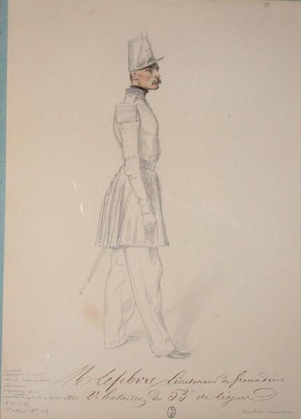 M. Lefebure, lieutenant des grenadiers au 2e bataillon du 53e de ligne, capitaine maintenant ; Siège de Rome de 1849 (en 3 tomes)_0
