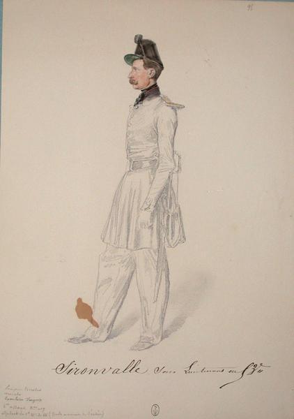 Sironvalle, sous-lieutenant au 53e ; Siège de Rome de 1849 (en 3 tomes)