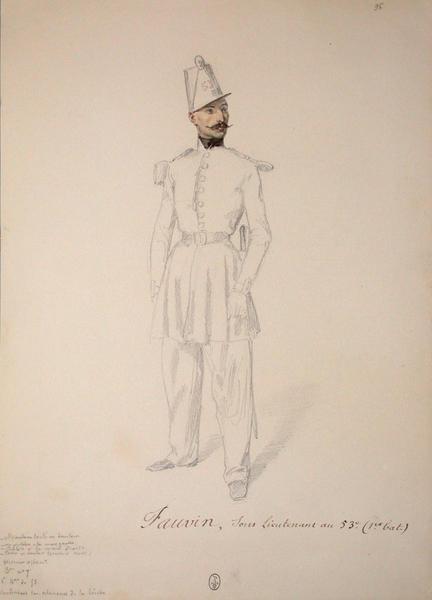 Fauvin, sous-lieutenant au 53e conduisant les éclaireurs de la brèche ; Siège de Rome de 1849 (en 3 tomes)
