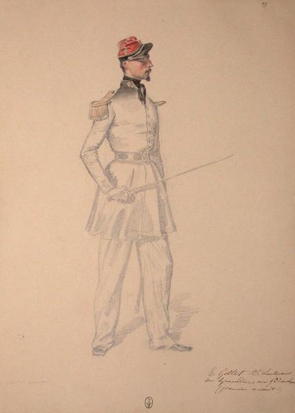 E. Gillet, sous-lieutenant des grenadiers au 53e de ligne (premier assaut) ; Siège de Rome de 1849 (en 3 tomes)_0
