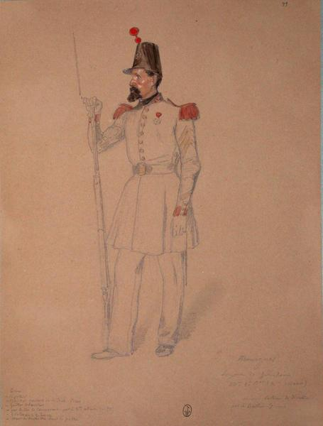 Mourgues, sergent des grenadiers, 53e, 1er bataillon (2e assaut), colonne de direction par le bastion 7 ; Siège de Rome de 1849 (en 3 tomes)_0