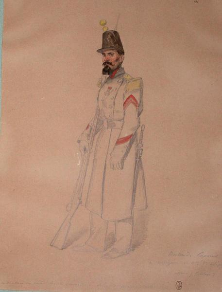 Bertrand, caporal de voltigeurs, 1er bataillon, 53e de ligne, 1er assaut, bastion 7 ; Siège de Rome de 1849 (en 3 tomes)_0