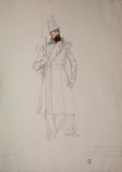Martin, sergent de grenadiers, 2e bataillon, 53e de ligne, 1er assaut, bastion 7 ; Siège de Rome de 1849 (en 3 tomes)_0