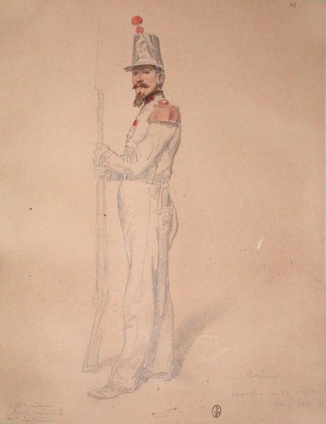 Verdeaux, grenadier au 53e, 2e bataillon, 1er assaut, bastion 7 ; Siège de Rome de 1849 (en 3 tomes)_0