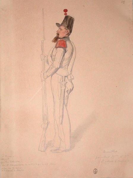 Brouillet, grenadier 53e, 2e bataillon, 1er assaut, bastion 7 ; Siège de Rome de 1849 (en 3 tomes)_0