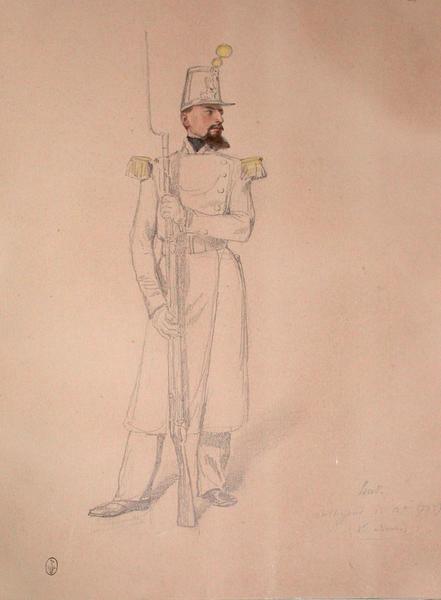 Hus, voltigeur, 1er bataillon, 53e, 1er assaut ; Siège de Rome de 1849 (en 3 tomes)