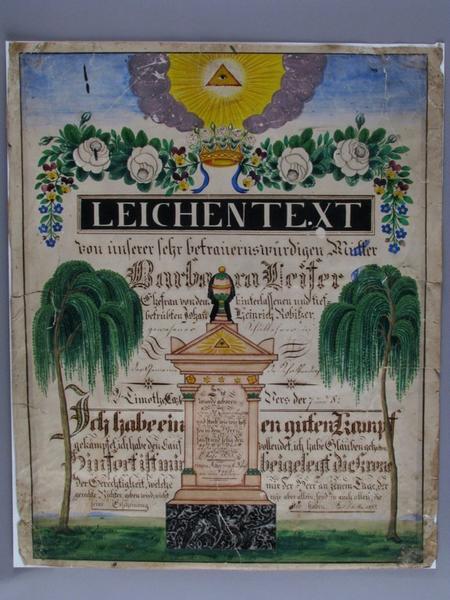 image de deuil : LEICHENTEXT (titre inscrit)