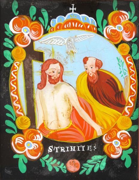 peinture sous verre : S TRINITE (titre inscrit)