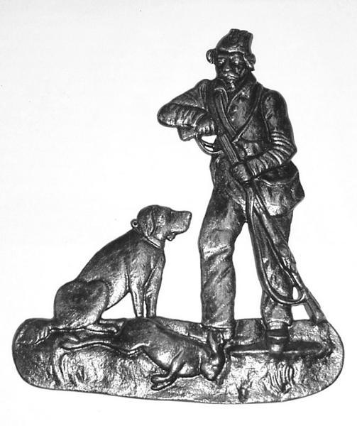 DE DIETRICH (fabricant) : Chasseur, chien et lièvre (titre d'usage)