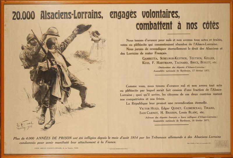 FRIANT Emile (peintre), BERGER-LEVRAULT (imprimeur) : Les engagés volontaires d'Alsace-Lorraine (titre factice)