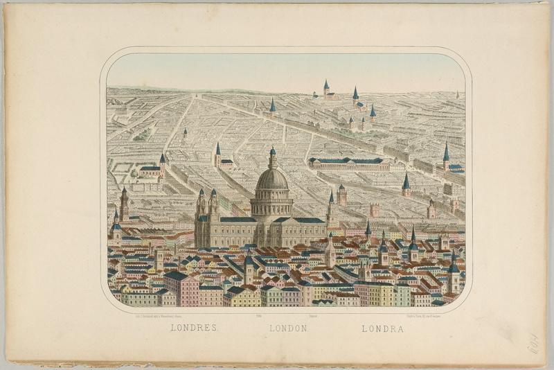 LONDRES. (titre inscrit, français, allemand, anglais)_0