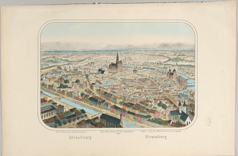 Strasbourg. (titre inscrit, français, allemand)_0