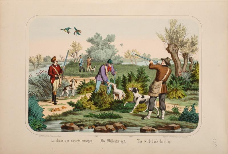 La chasse aux canards sauvages. (titre inscrit, français, allemand, anglais)_0