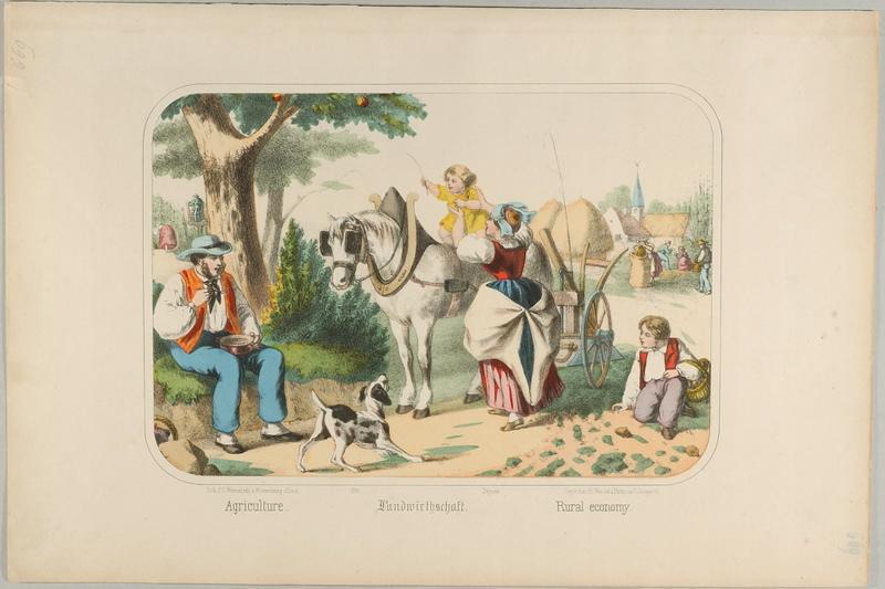 WENTZEL Frédéric Charles (lithographe, éditeur) : Agriculture. (titre inscrit, français, allemand, anglais)