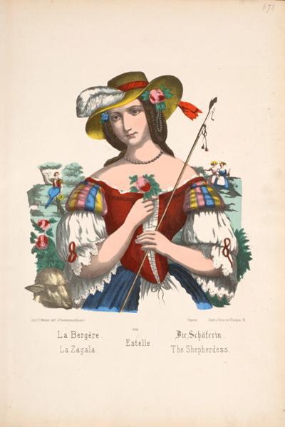 La Bergère. (français, allemand gothique, anglais, espagnol, portugais)_0