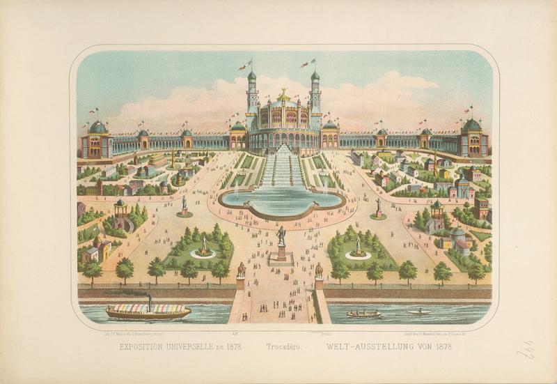 EXPOSITION UNIVERSELLE DE 1878. Trocadéro. (titre inscrit français, allemand)_0
