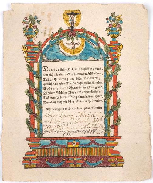 lettre de baptême