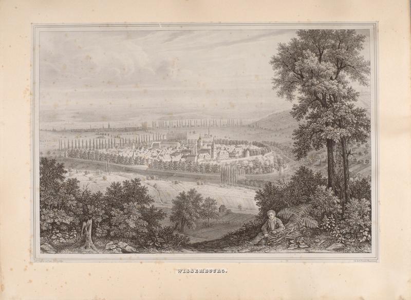 WENTZEL Jean Frédéric (lithographe, éditeur), NININGER J R (auteur, lithographe) : WISSEMBOURG. (titre inscrit)