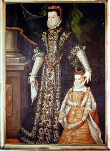 Corisande, comtesse de Guiche, et sa fille_0