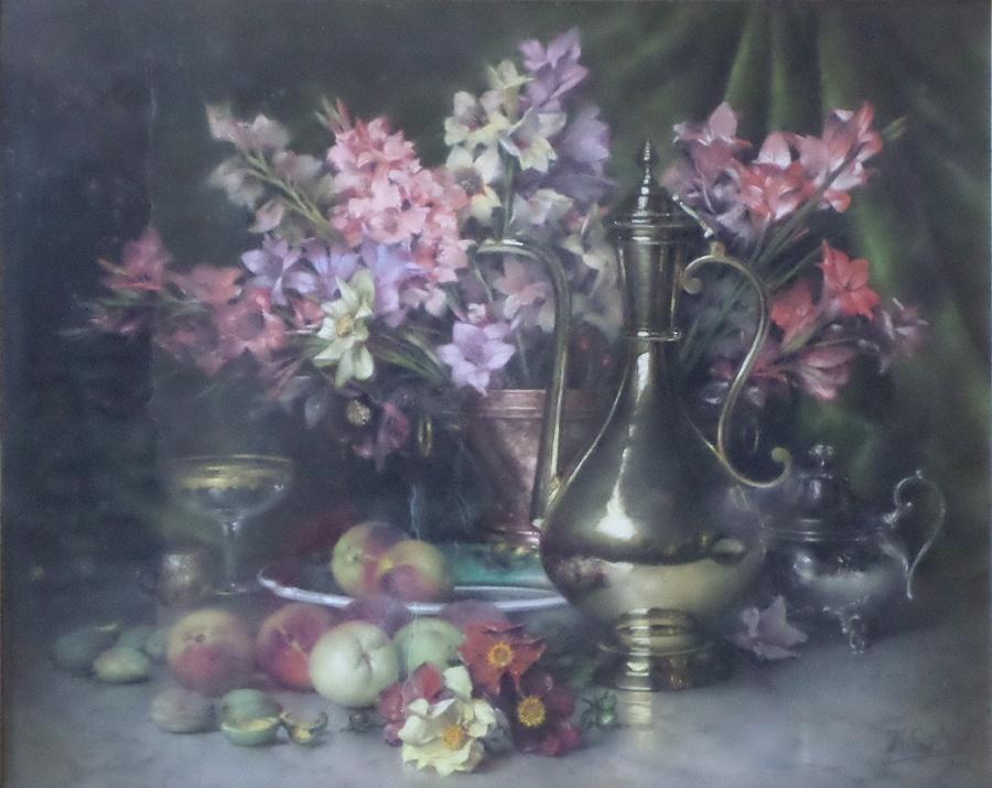 COQUELIN Théodore Charles Ange (pastelliste) : Avant le repas (nature morte)