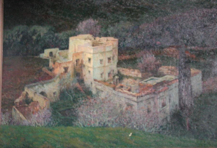 DABADIE Henri (peintre) : La Ruine - L'hiver (château)