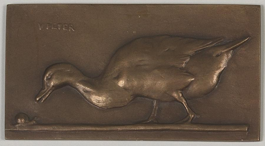 PETER Victor (sculpteur) : Canard et colimaçon (titre d'usage), Canard et escargot