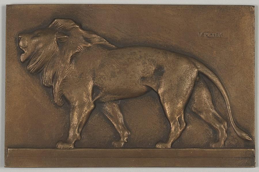 PETER Victor (sculpteur) : Lion passant