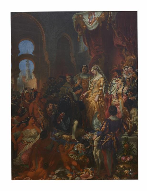 Réception de Christophe Colomb par Ferdinand et Isabelle_0