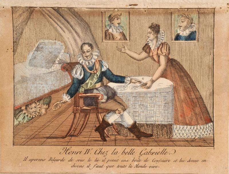 anonyme : Henri IV chez la belle Gabrielle