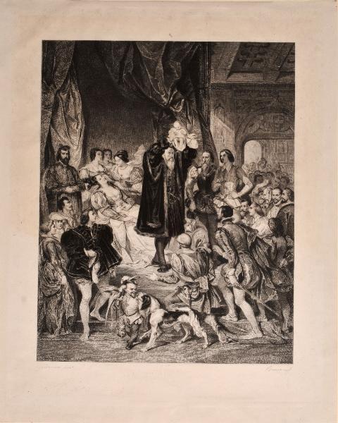 RAMUS Edmond (graveur), DEVERIA Eugène (d'après, peintre) : La naissance d'Henri IV
