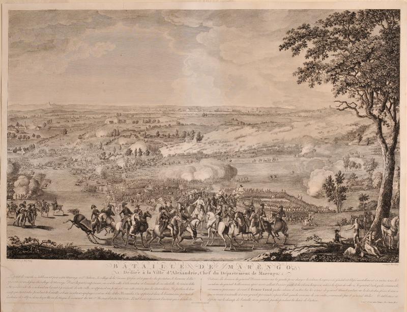 WEXELBERG F G (graveur), PERSICO Ange (d'après, dessinateur) : La bataille de Marengo