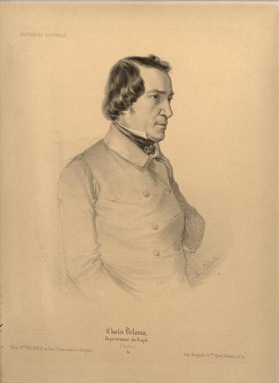 COLLETTE Alexandre Désiré (dessinateur), DELARUE (lithographe), KAEPPELIN & Cie (imprimeur) : Charles Delavau. Représentant du Peuple (Indre.) 4