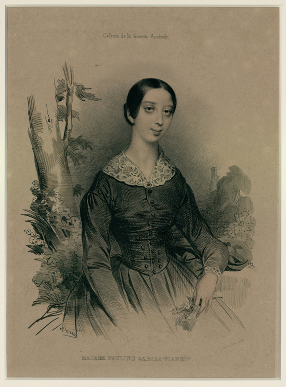 DEVERIA Achille Jacques Jean-Marie (dessinateur), THIERRY Frères (lithographe) : Madame Pauline Garcia Viardot