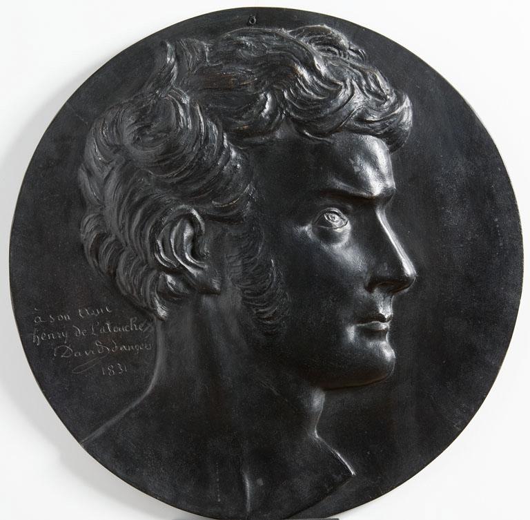 DAVID D'ANGERS (dit), DAVID Pierre-Jean (sculpteur) : Médaillon Joseph Alexandre Thabaud de Latouche