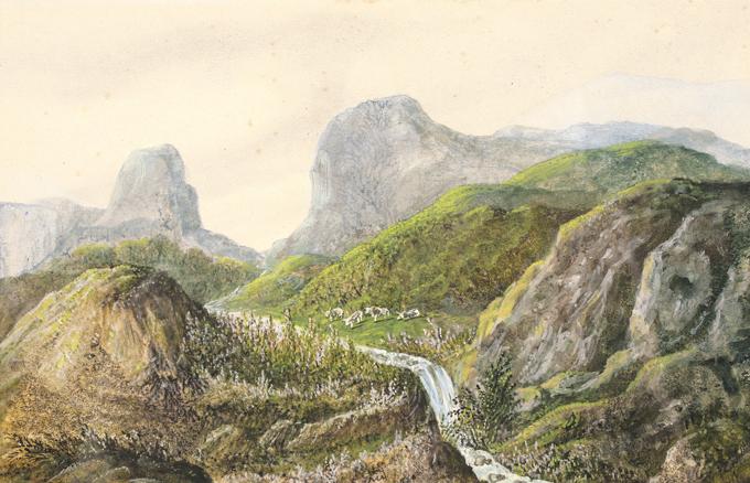 SAND George (dite), DUPIN DE FRANCUEIL Amantine Aurore Lucile (née) (dessinateur) : Paysage d'Auvergne