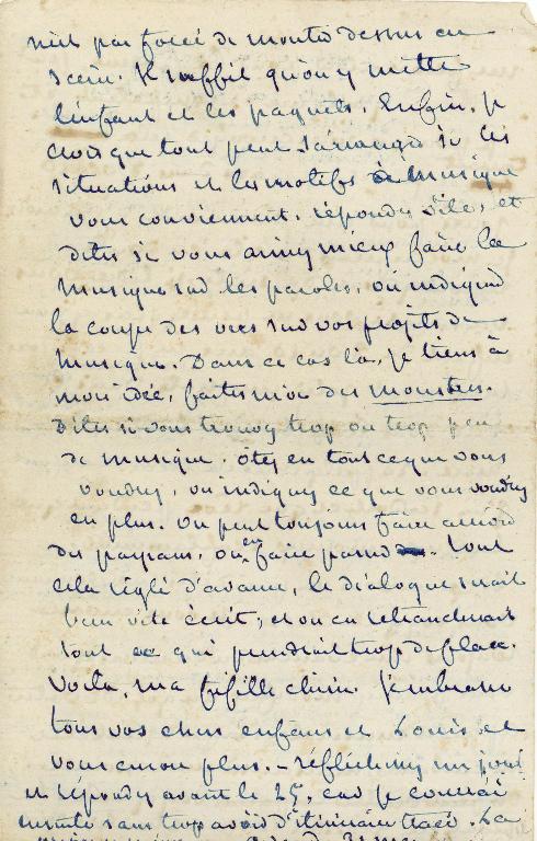 Lettre autographe signée de George Sand à Pauline Viardot