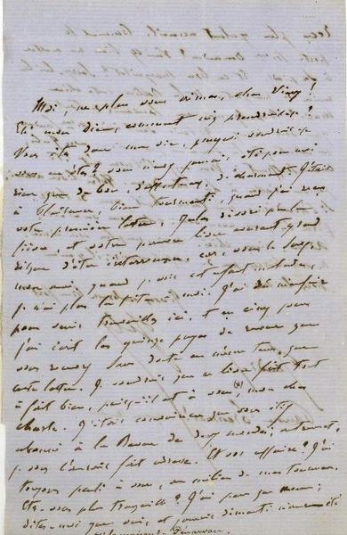 Lettre de Jules Sandeau à George Sand