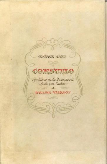 SAND George (dite), DUPIN DE FRANCUEIL Amantine Aurore Lucile (née) : Consuelo