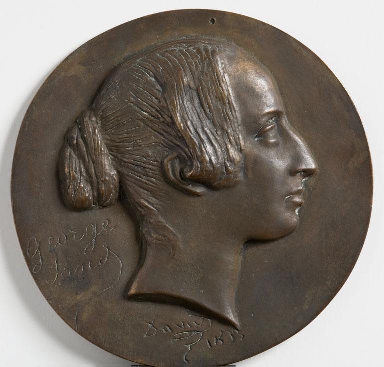DAVID D'ANGERS (dit), DAVID Pierre Jean (sculpteur) : Médaillon de George Sand