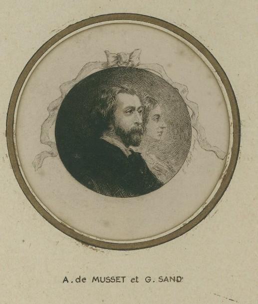 ABOT Eugène Michel Joseph (aquafortiste) : Alfred de Musset et George Sand