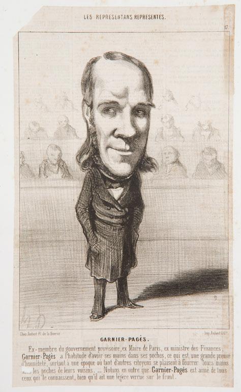 DAUMIER Honoré, AUBERT & Cie (imprimeur) : les représentans représentés. GARNIER-pagès