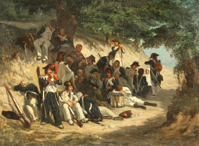 Halte des soldats de Napoléon