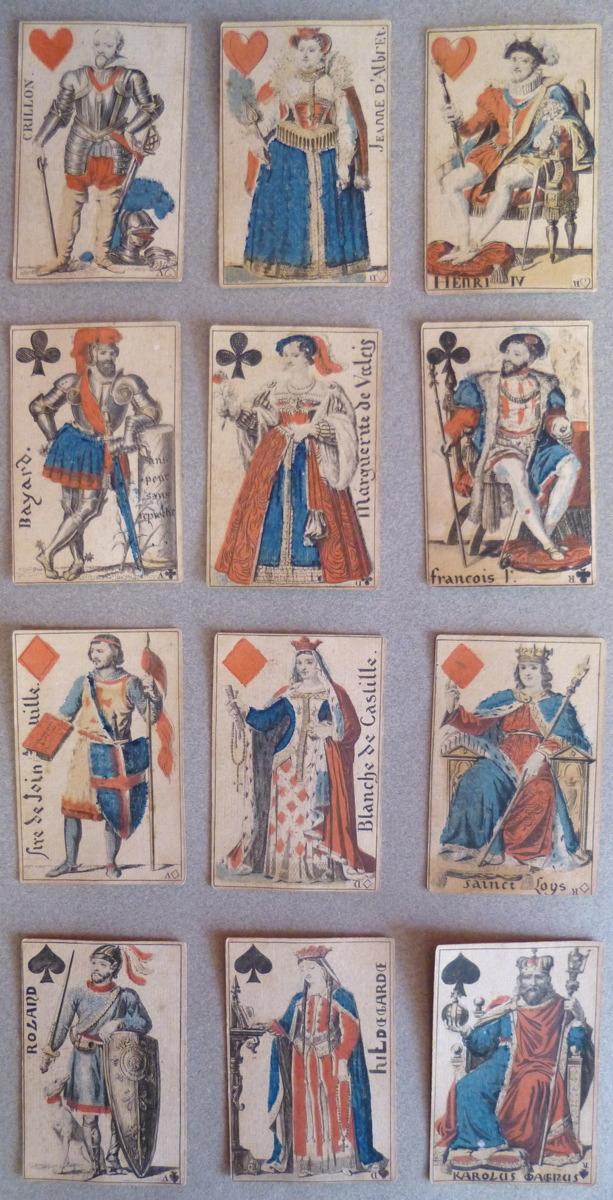 HOUBIGANT Armand Gustave (d'après), BERGERET Pierre Nolasque (dessinateur) : Jeu de cartes des Dames de France