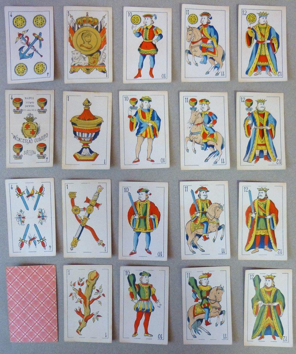 Jeu de cartes espagnol au portrait catalan moderne