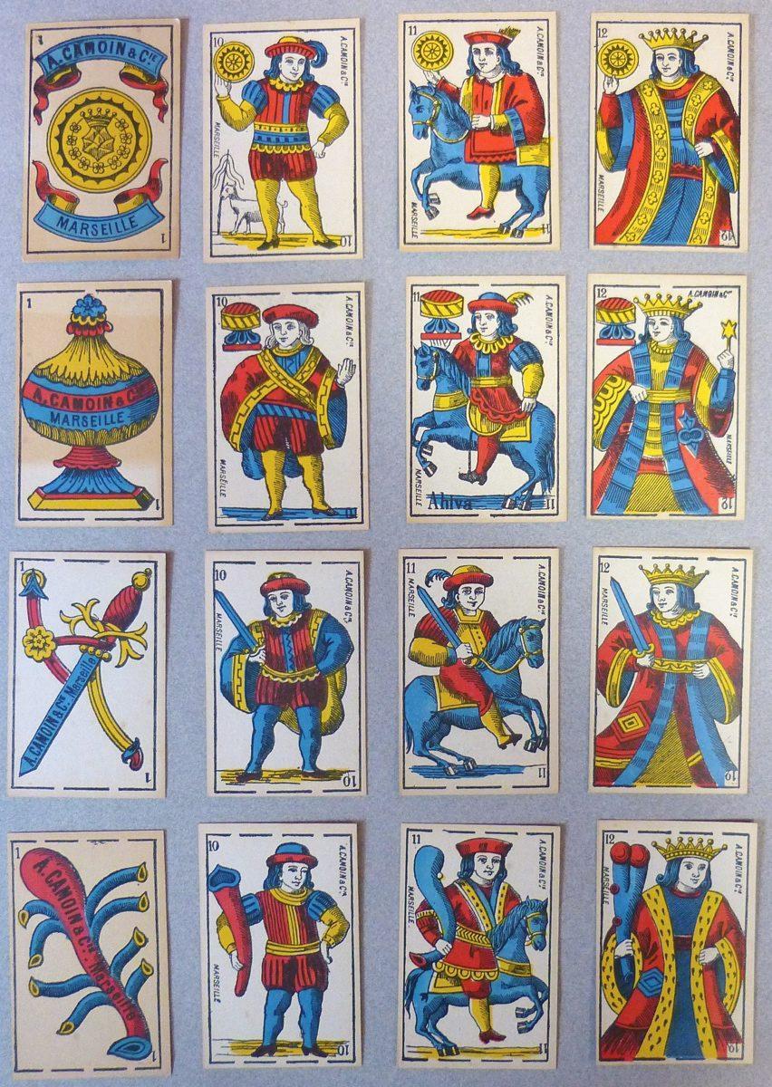 CAMOIN Jean-Baptiste, CAMOIN A & Cie (cartier, fabrique) : Jeu de cartes au portrait parisien-espagnol