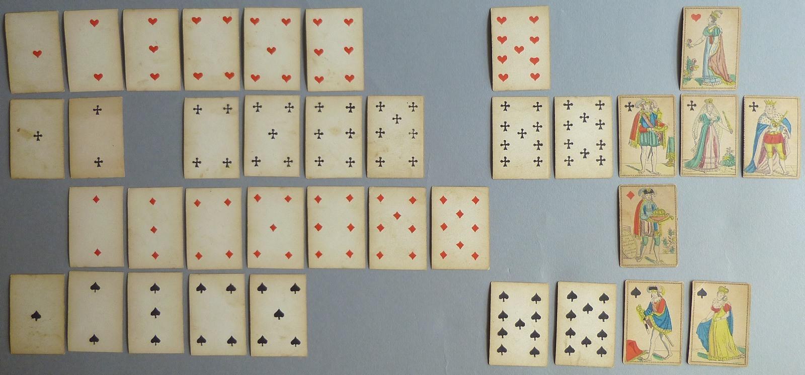 Jeu de cartes miniatures aux enseignes françaises_0